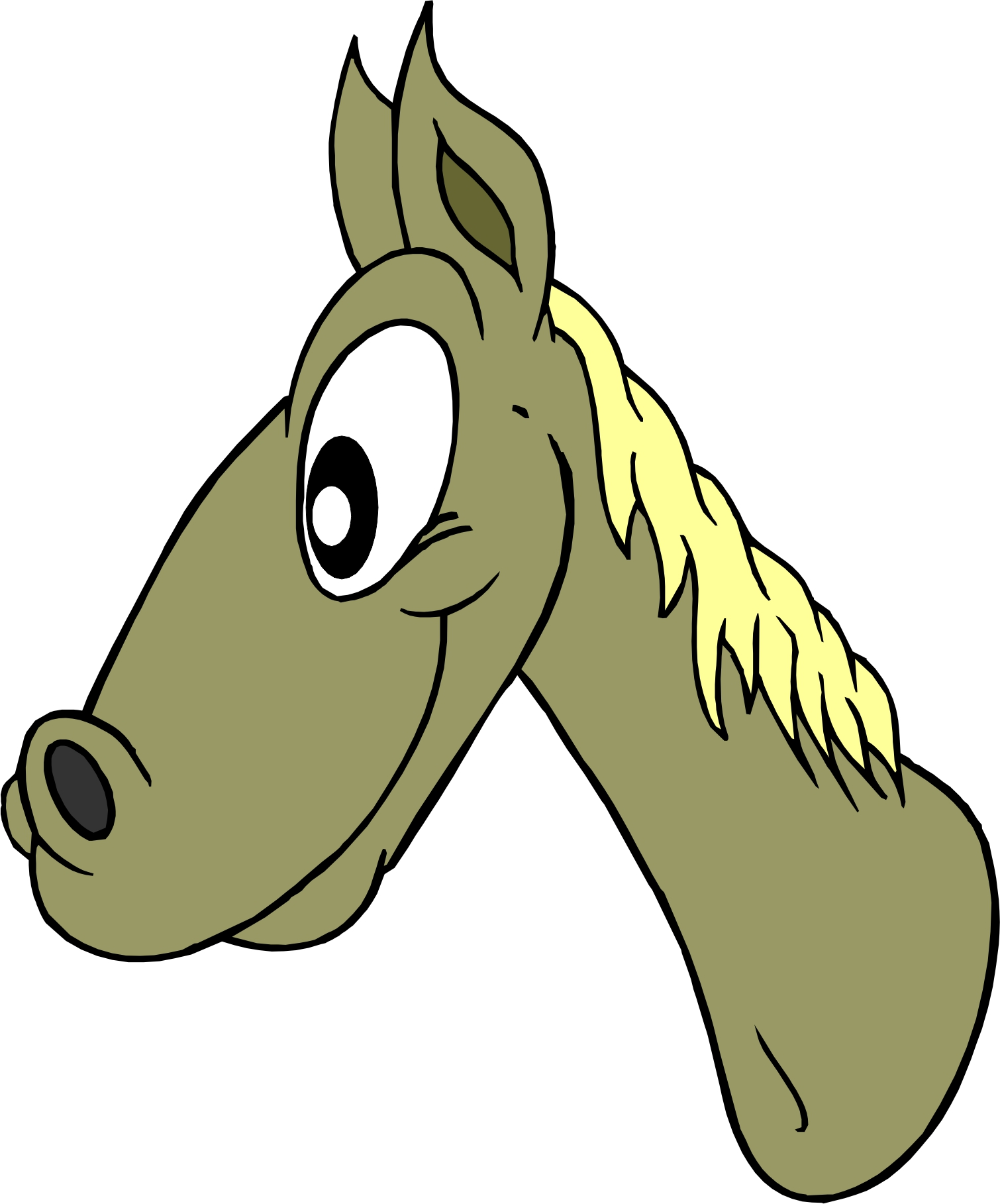 Clipart Cartoon Horses