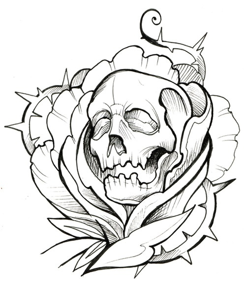 Tattoo Drawing Outline : Cool tattoo design outline clipart best
