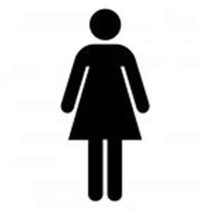 Sign for girle bathroom clipart best for Girls bathroom symbol
