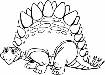 Dinosaur stegosaurus outline clipart best for Dinosaur outline coloring pages