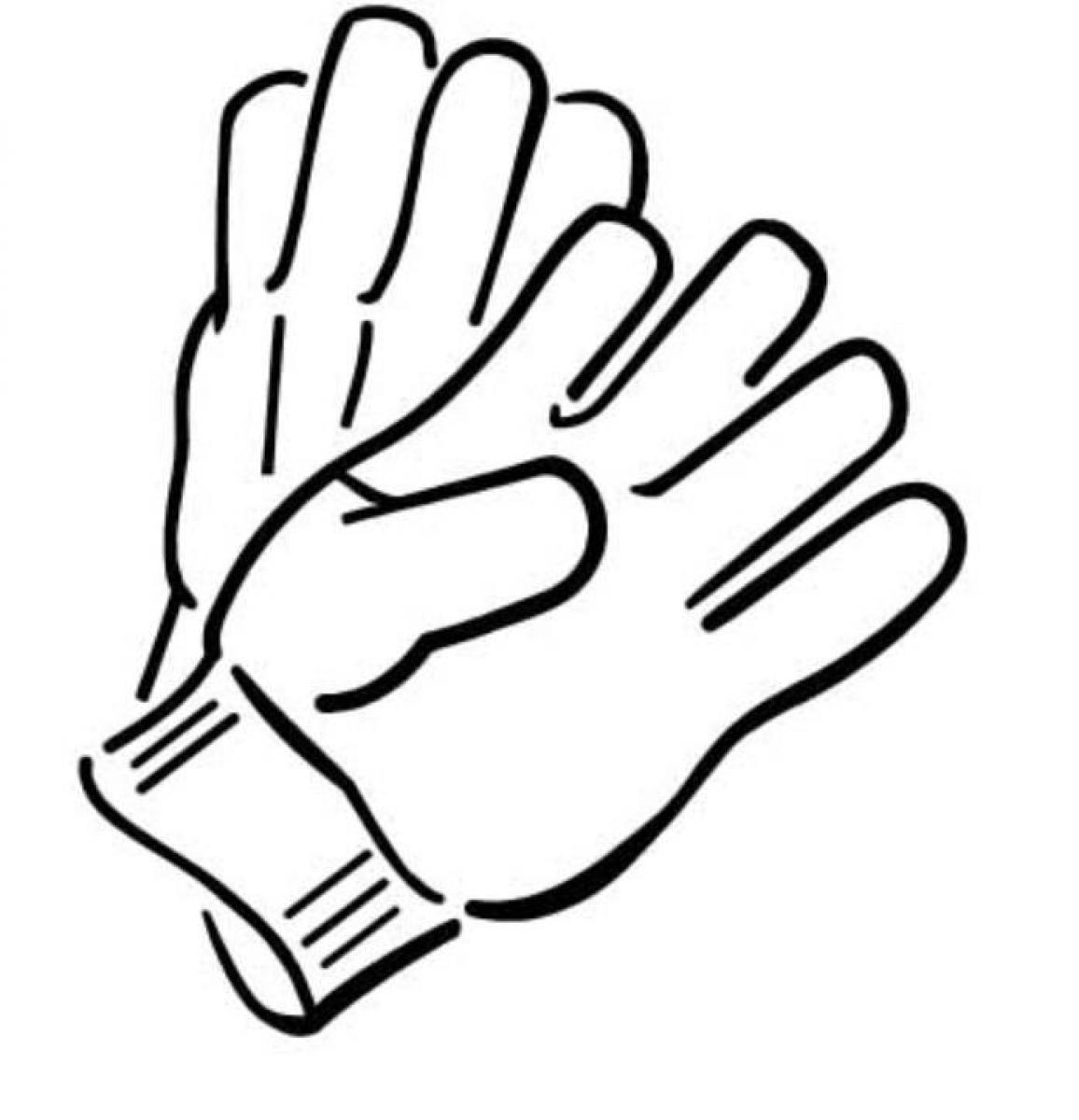 Gloves coloring pages clipart best for Coloring pages of mittens and gloves