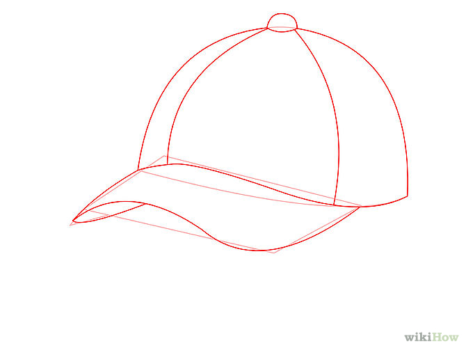 Line Drawing Hat : Baseball hat drawing clipart best
