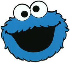 Cookie Monster face template - Free Clipart Images