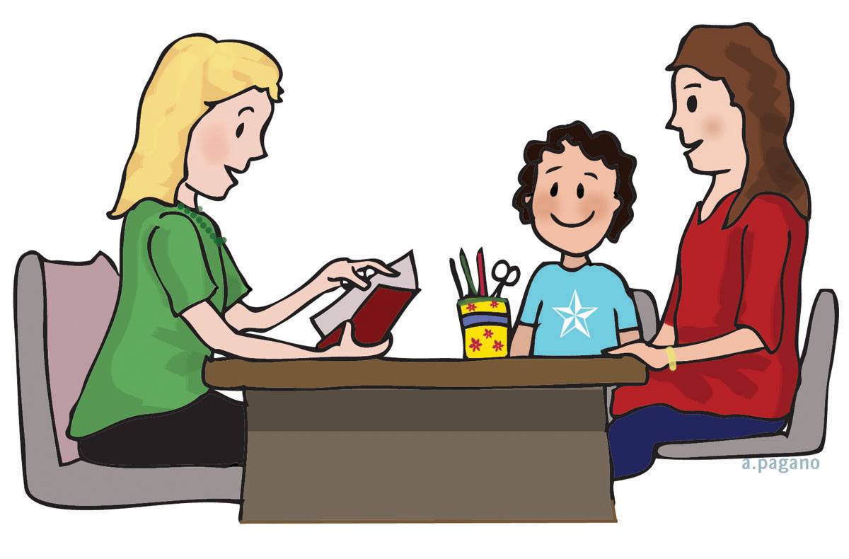clipart of teacher and parents - photo #3