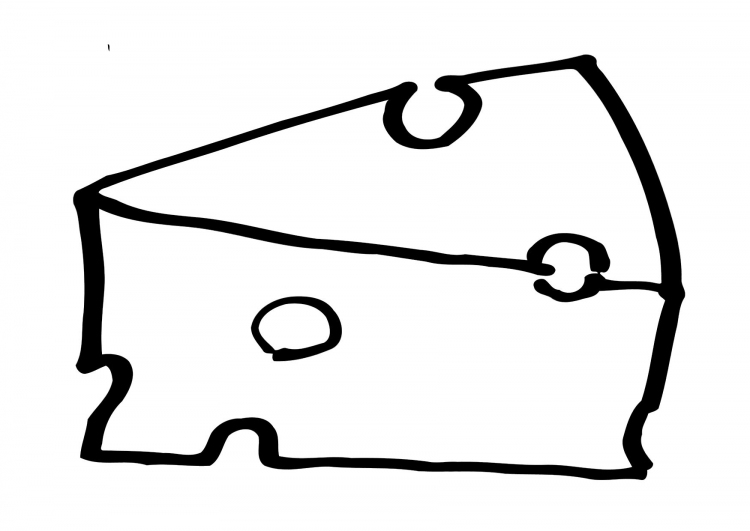 Cheese Slice Coloring Page