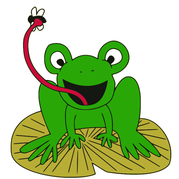 2 Frogs On A Lily Pad Clip Art - ClipArt Best