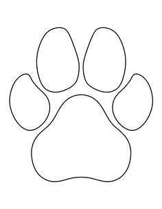 image regarding Dog Paw Print Stencil Printable Free identify Paw Print Stencil Printable No cost - ClipArt Most straightforward