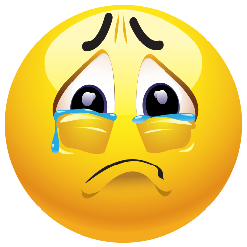 Sad Crying Face Emoticon ClipArt Best