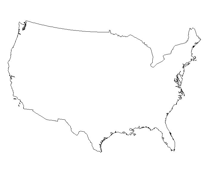 Line Art United States : United states vector outline clipart best