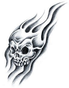 Black and white flame tattoos clipart best for Black and white flame tattoo