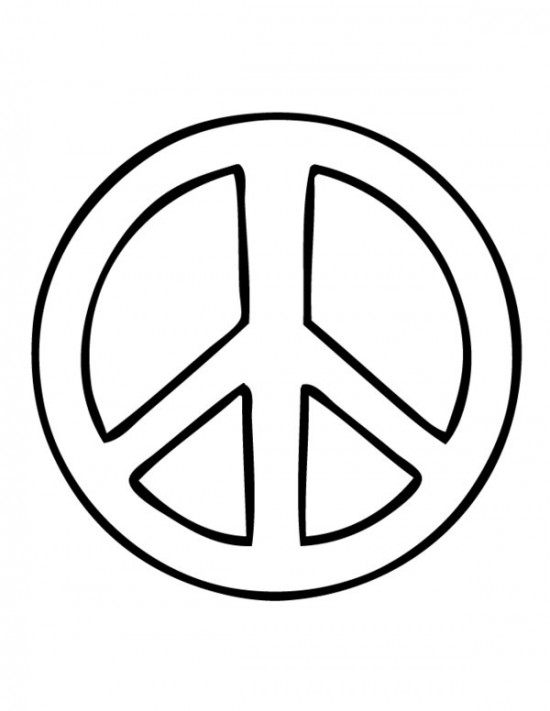Peace Sign Printable Clipart Best