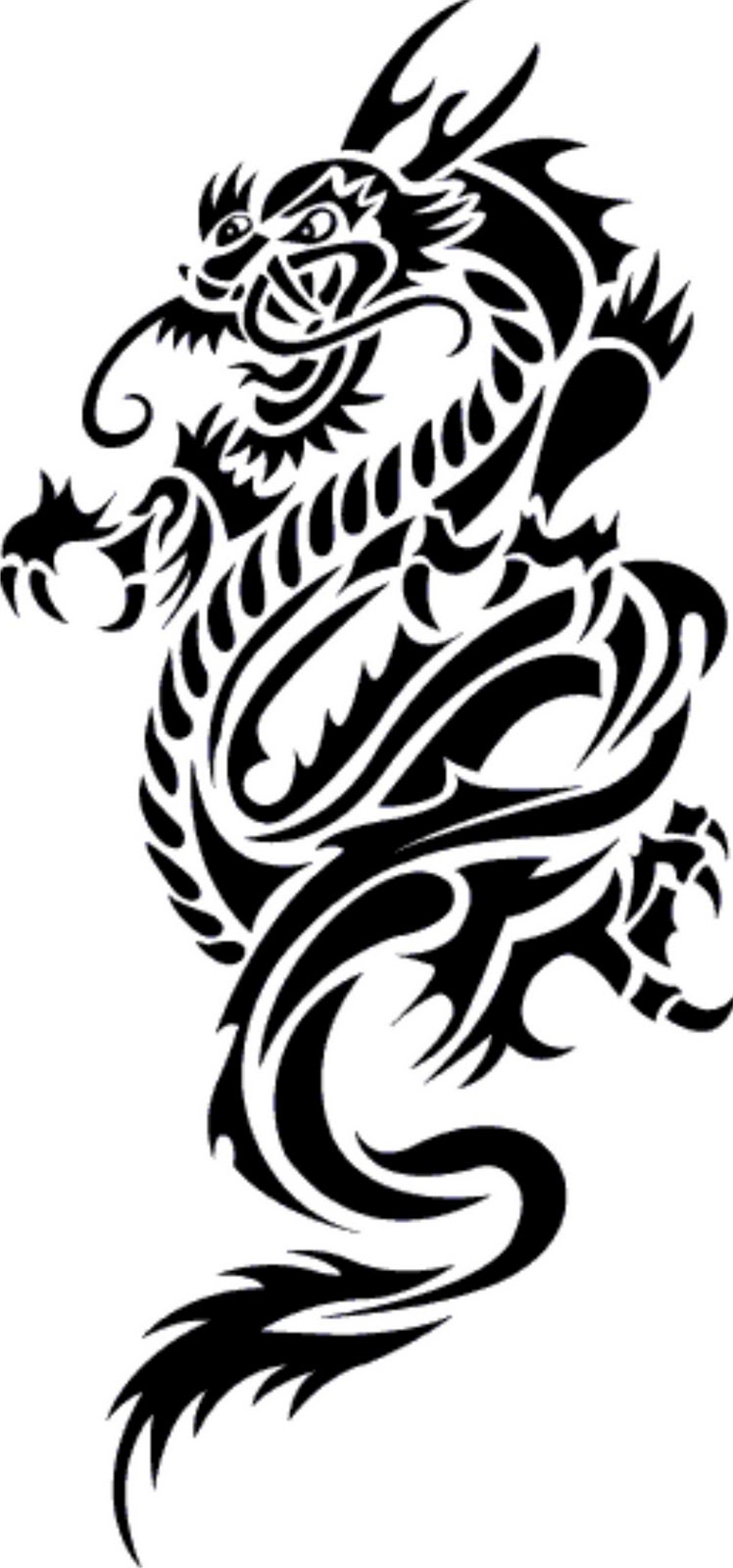 dragon tribal tattoo clipart best. Black Bedroom Furniture Sets. Home Design Ideas