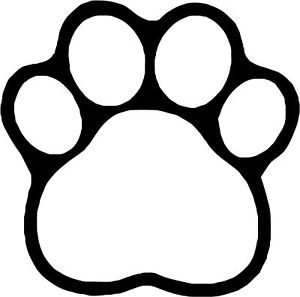 Clip Art Pawprint Clipart white paw print clip art clipart best dogs black and white