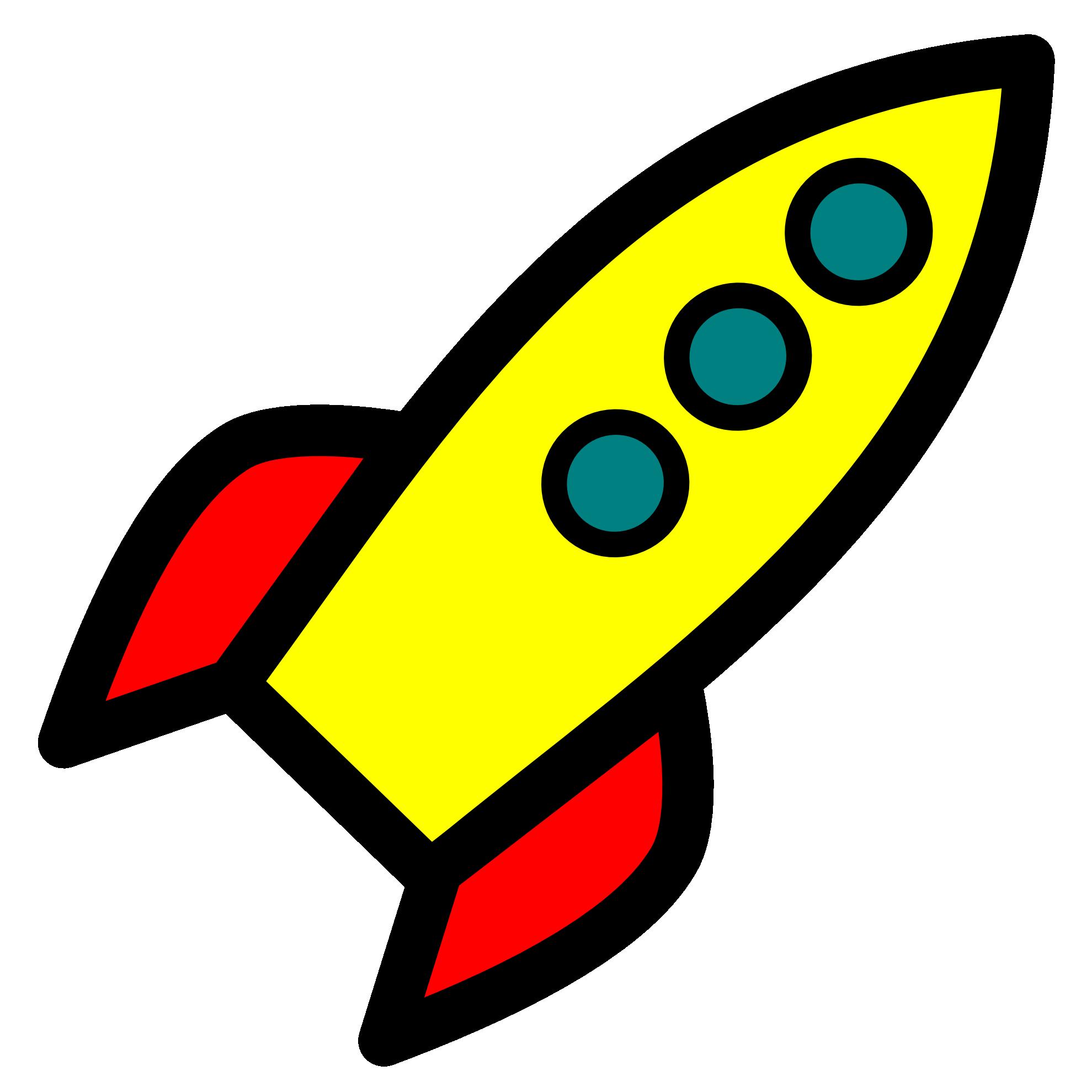 Nasa rocketship drawing