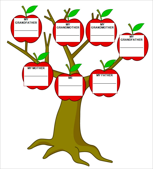 Family tree printables clipart best for Plain family tree template