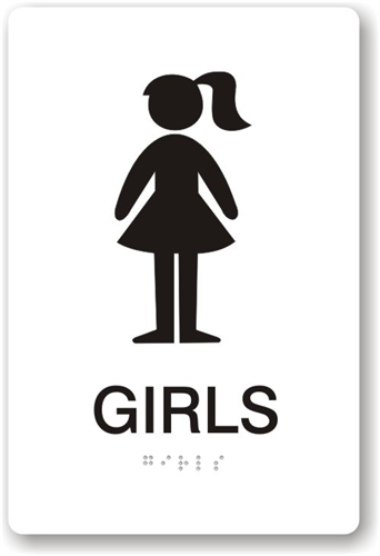 Girls bathroom signs clipart best for Girls bathroom symbol