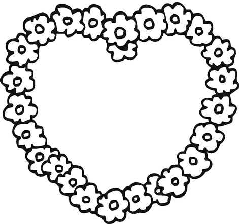 coloring pages of flowers and hearts cartoonrocks - Coloring Pages Flowers Hearts