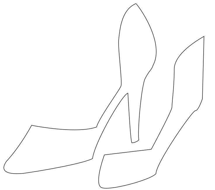 High heel template clipart best for High heel template for cards