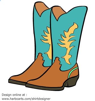 Western Boots Clipart - Best Boots Design 2017