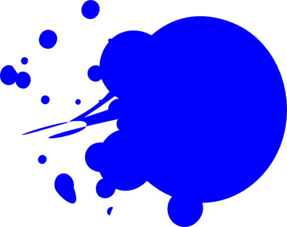 Blue Paint Splatter Png Clipart - Free to use Clip Art Resource