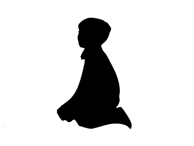 A Little Kid With A Shadow Of A Man Drawing