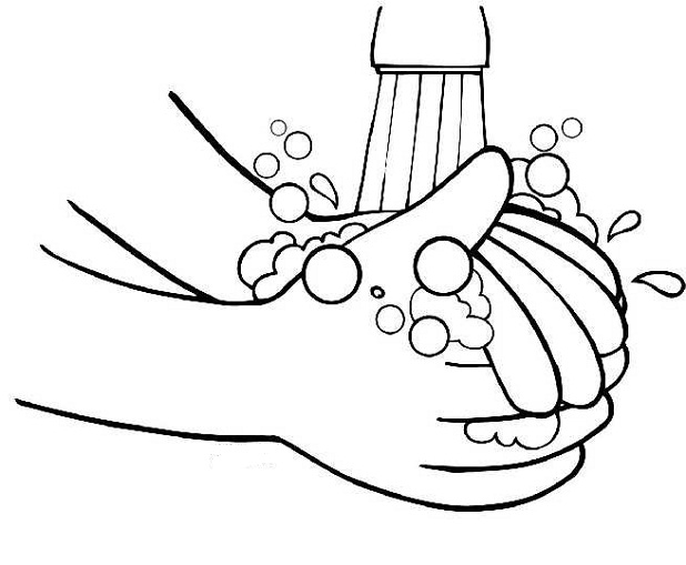 Wash Your Hands Coloring Image Clipart Best Coloring Pages For Your And