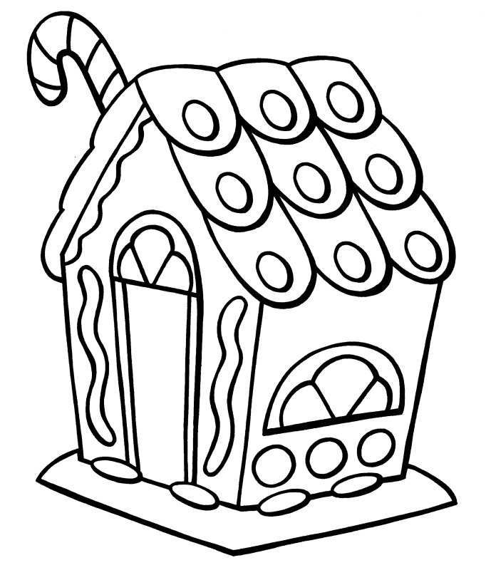 gingerbread house candy coloring pages - photo#32
