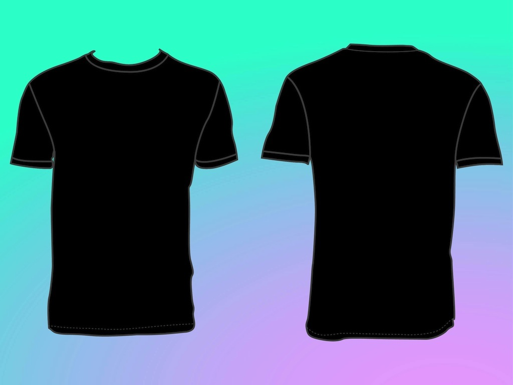 T shirt plain back and front clipart best for Shirts with graphics on the back