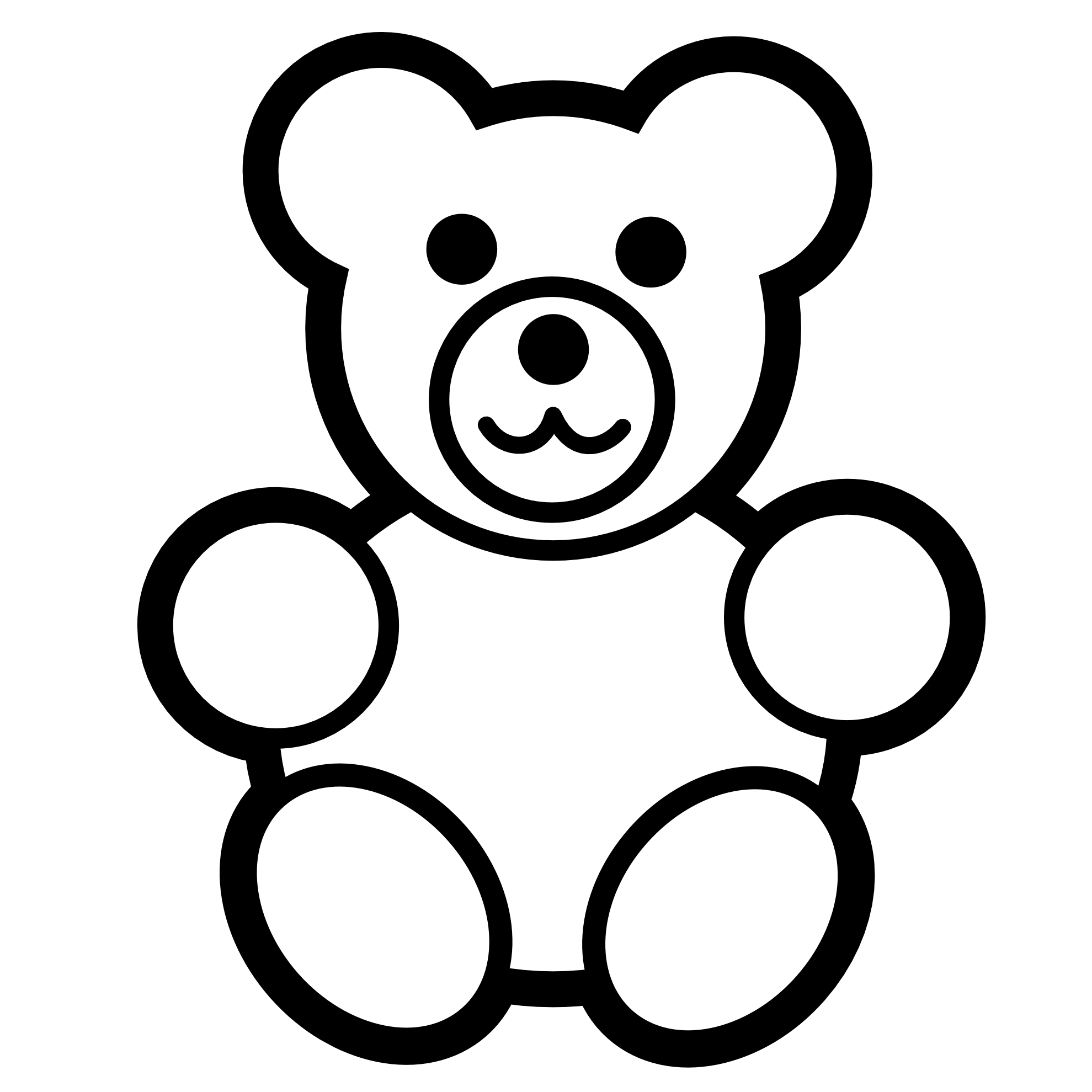 Out Line Of A Bear To Colour - ClipArt Best