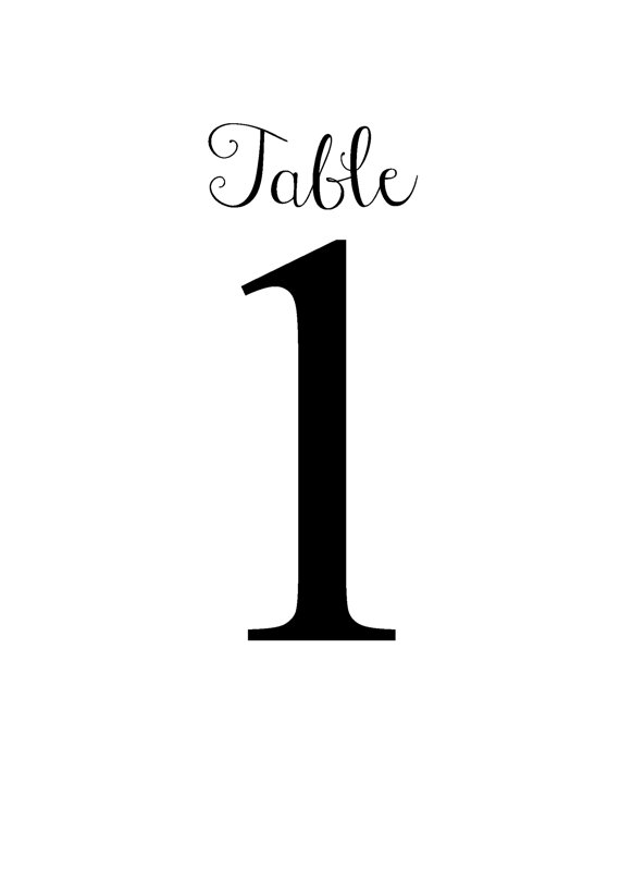 Table Number Template Clipart Best
