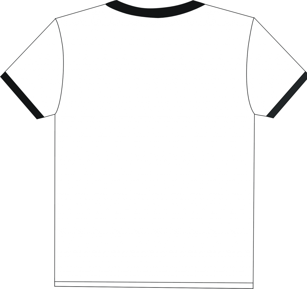 t shirt shape clipart - photo #30