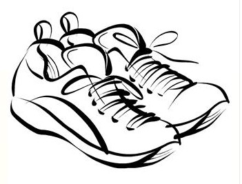 running shoe coloring page - running shoes coloring clipart best