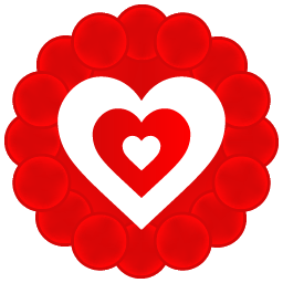 Heart Pattern Icon | Free Vector Valentine Heart Iconset | DesignBolts