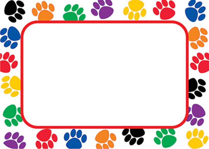 Colorful Paw Prints Name Tags [TCR5168] - $4.49 : Launching ...