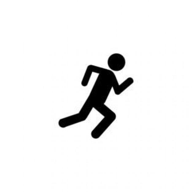 Running Man Clipart Black And White Running Man Clipart Black
