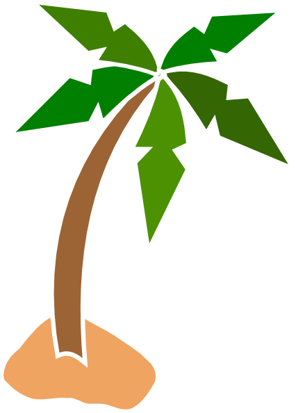 Coconut tree leaves clipart