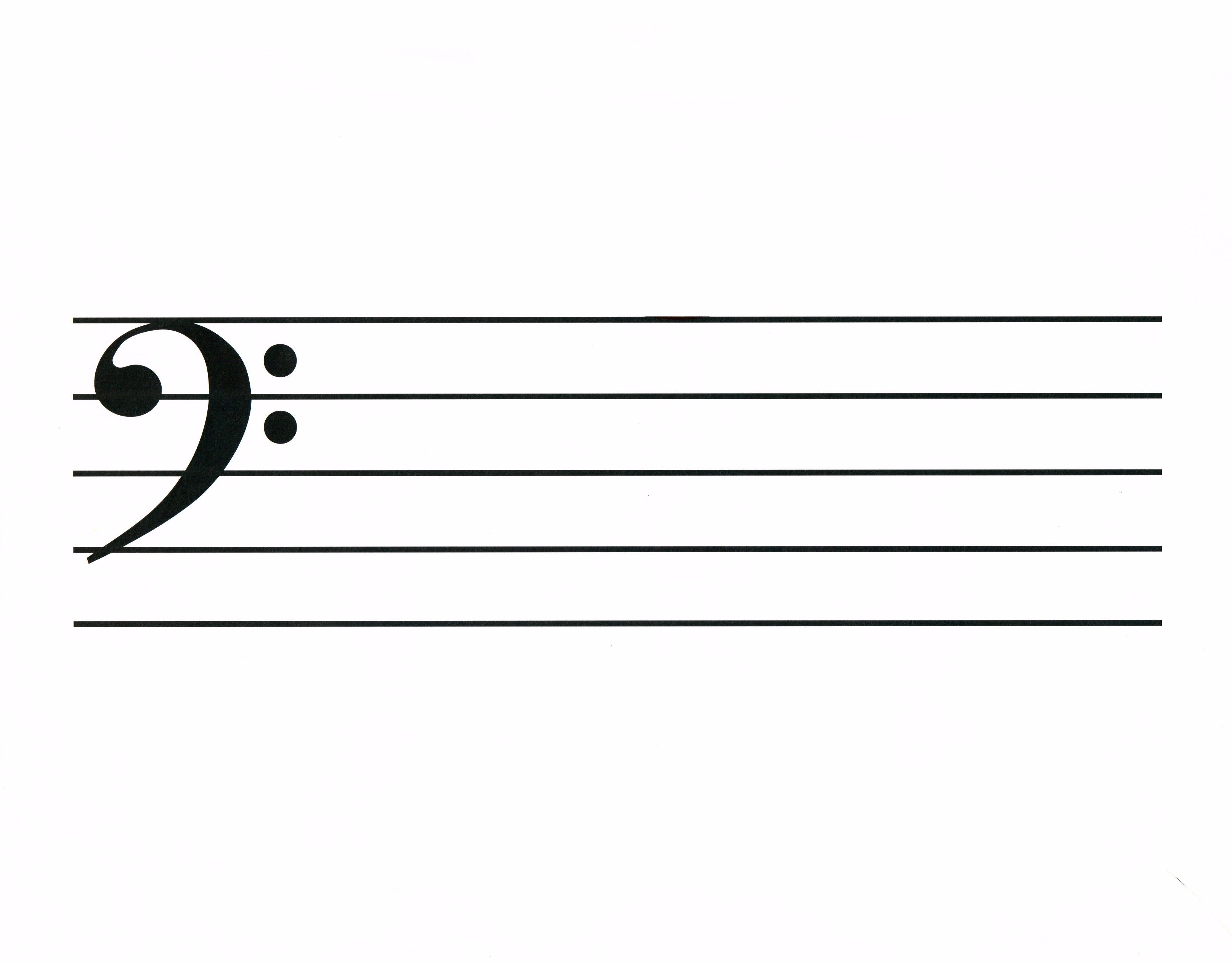 blank bass clef staff - photo #1