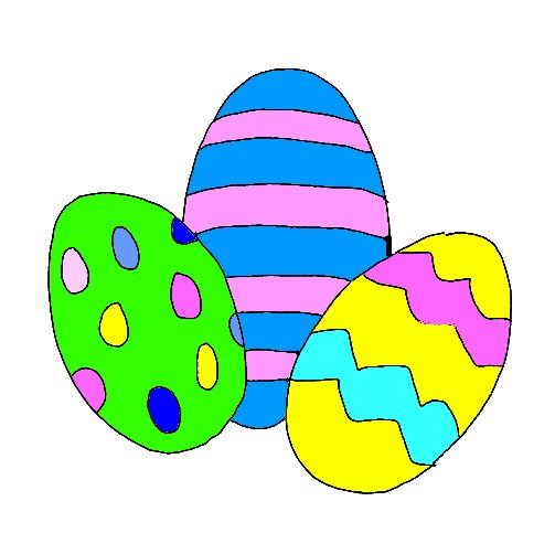 Easter Eggs Cartoon Pictures Cartoon Easter Eggs Coloring