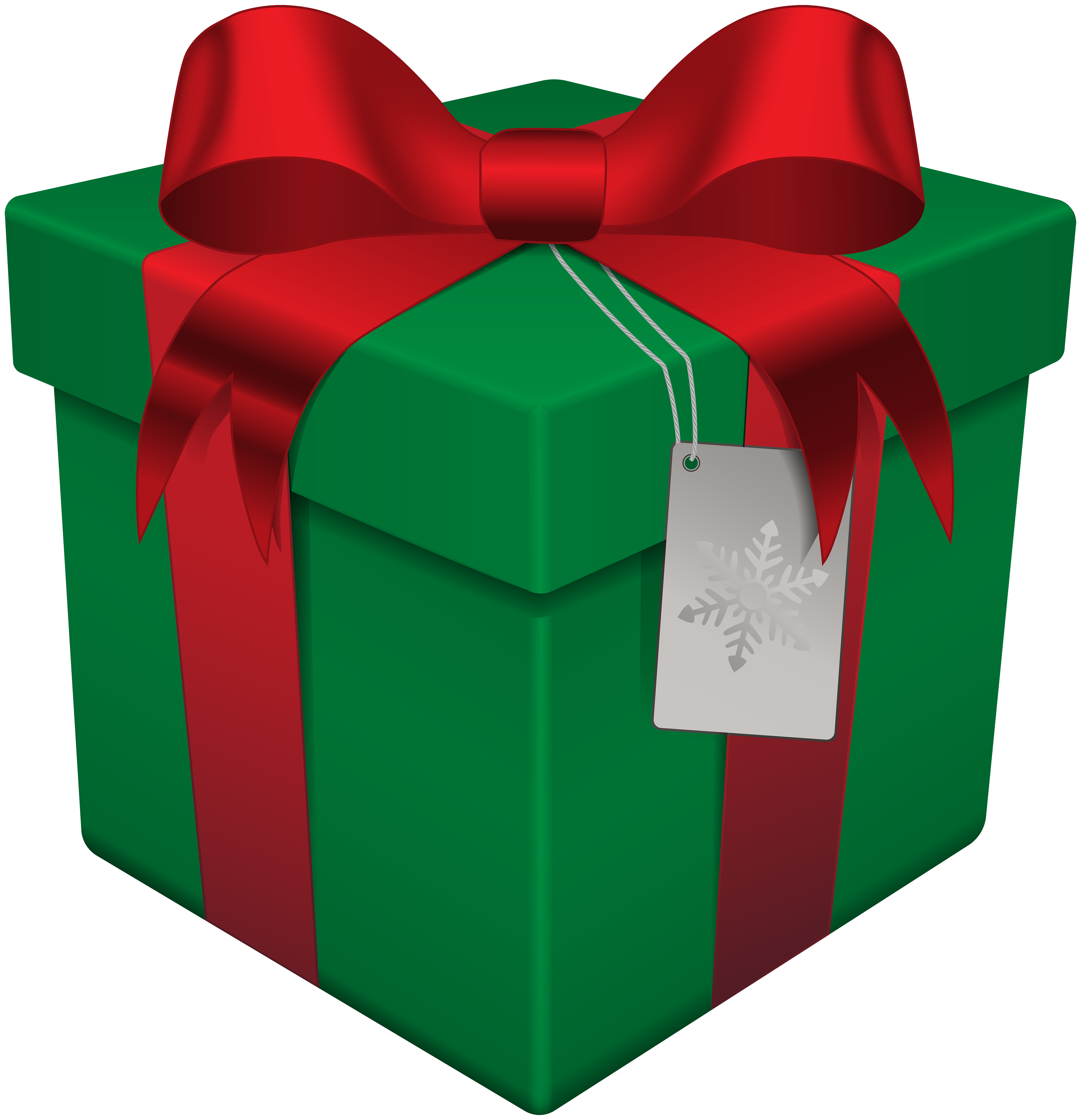 Transparent Clear Favor Boxes : Christmas gift box green transparent png clip art