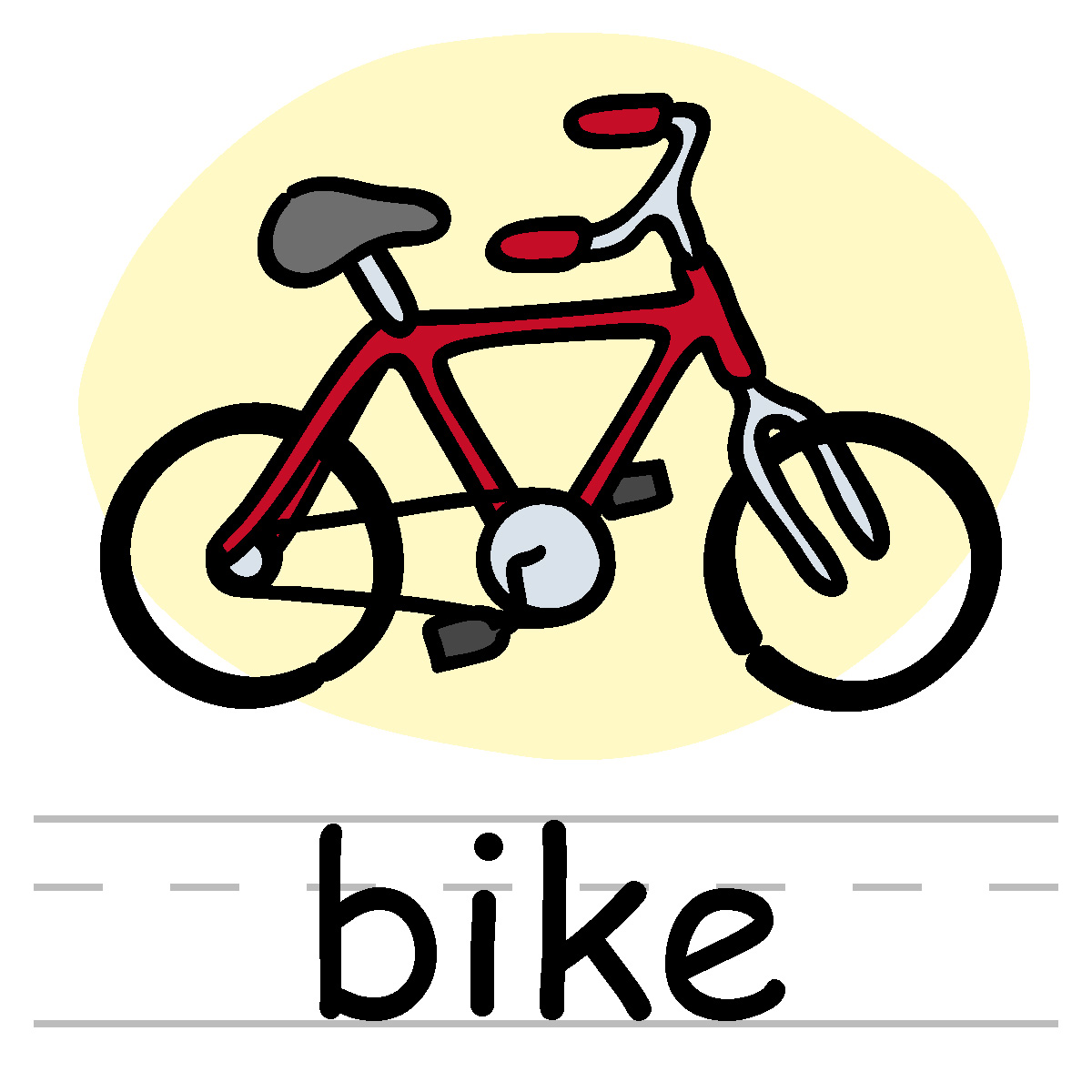 Bike Pictures Clip Art Clip Art Childs Blocks Color