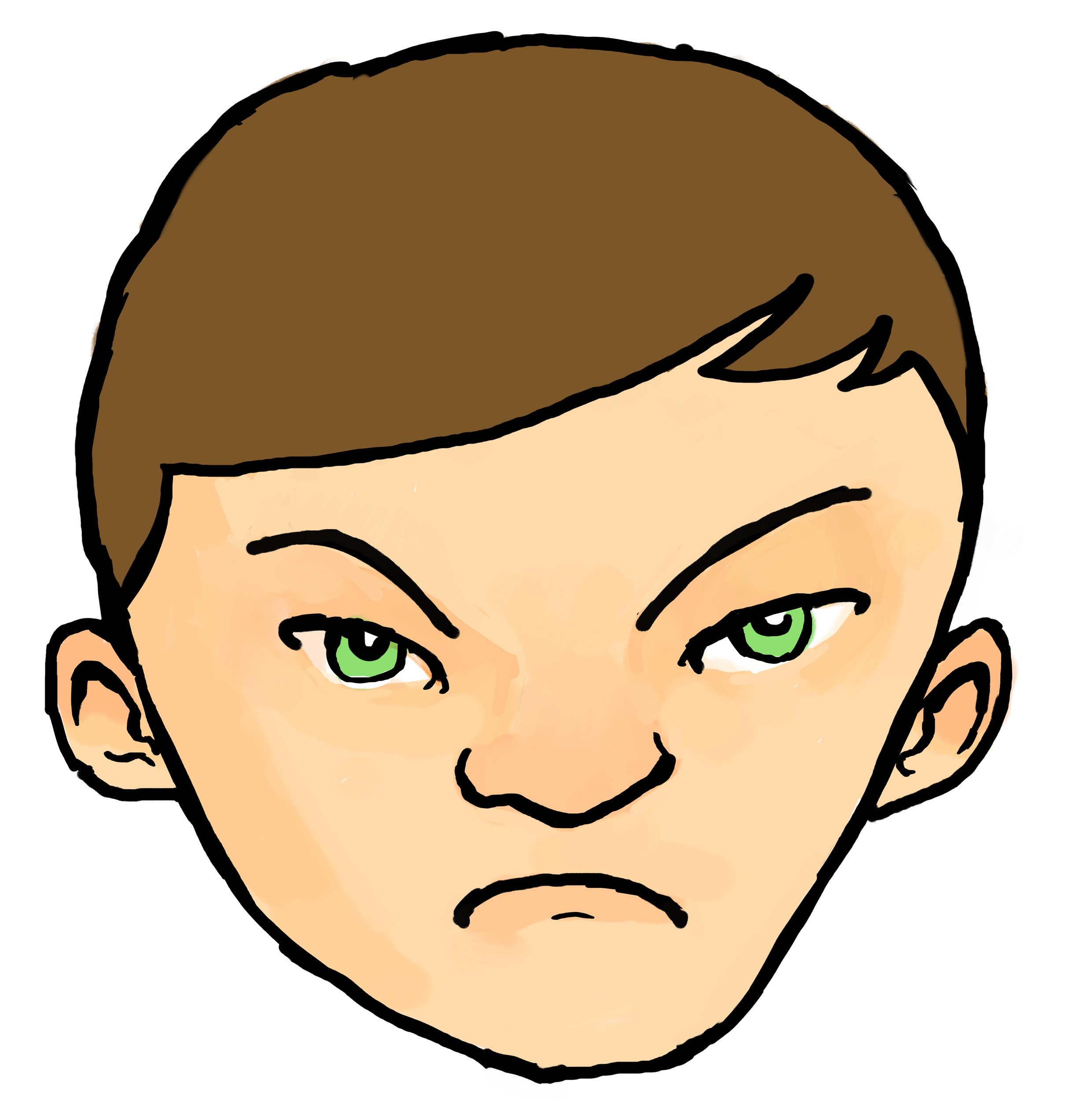 angry kid face clip art - photo #17