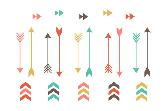 Tribal Arrow Clip Art ~ Illustrations on Creative Market