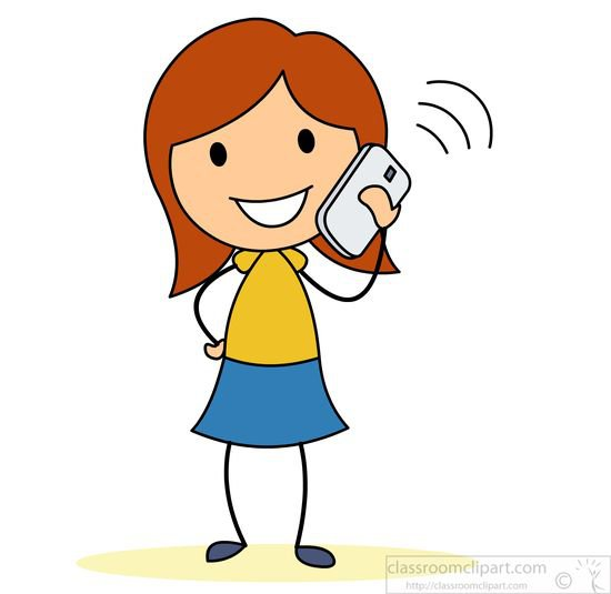 Talking On The Phone Clipart - ClipArt Best