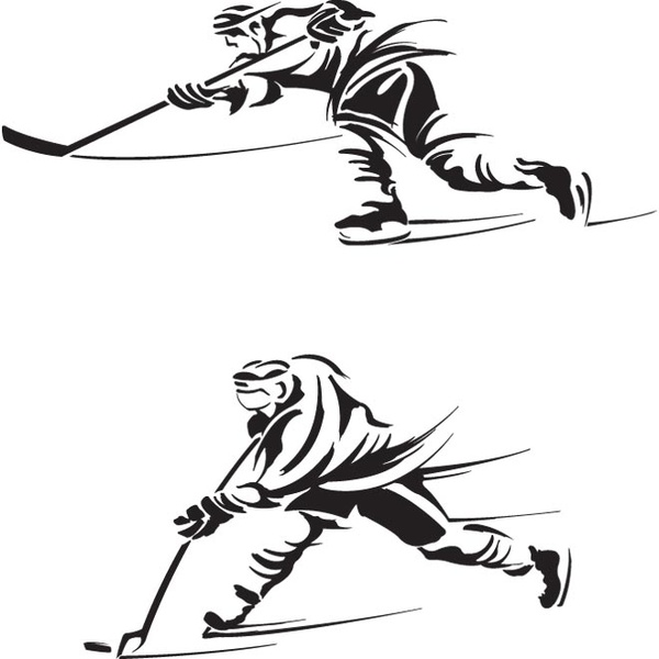 hockey player silhouette clipart best