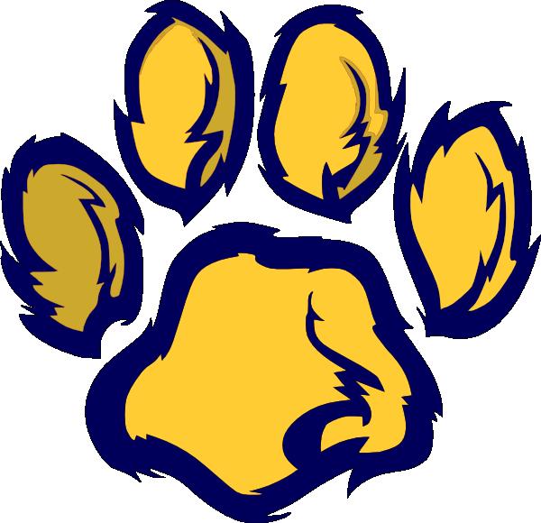 Wildcat Paw Clip Art Wildcat paw 2 clip art
