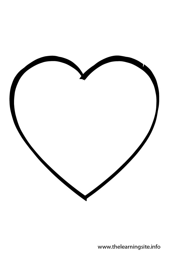 Printable heart shape clipart best for Heart shaped coloring pages