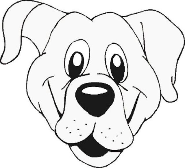 Dog Face Outline - ClipArt Best