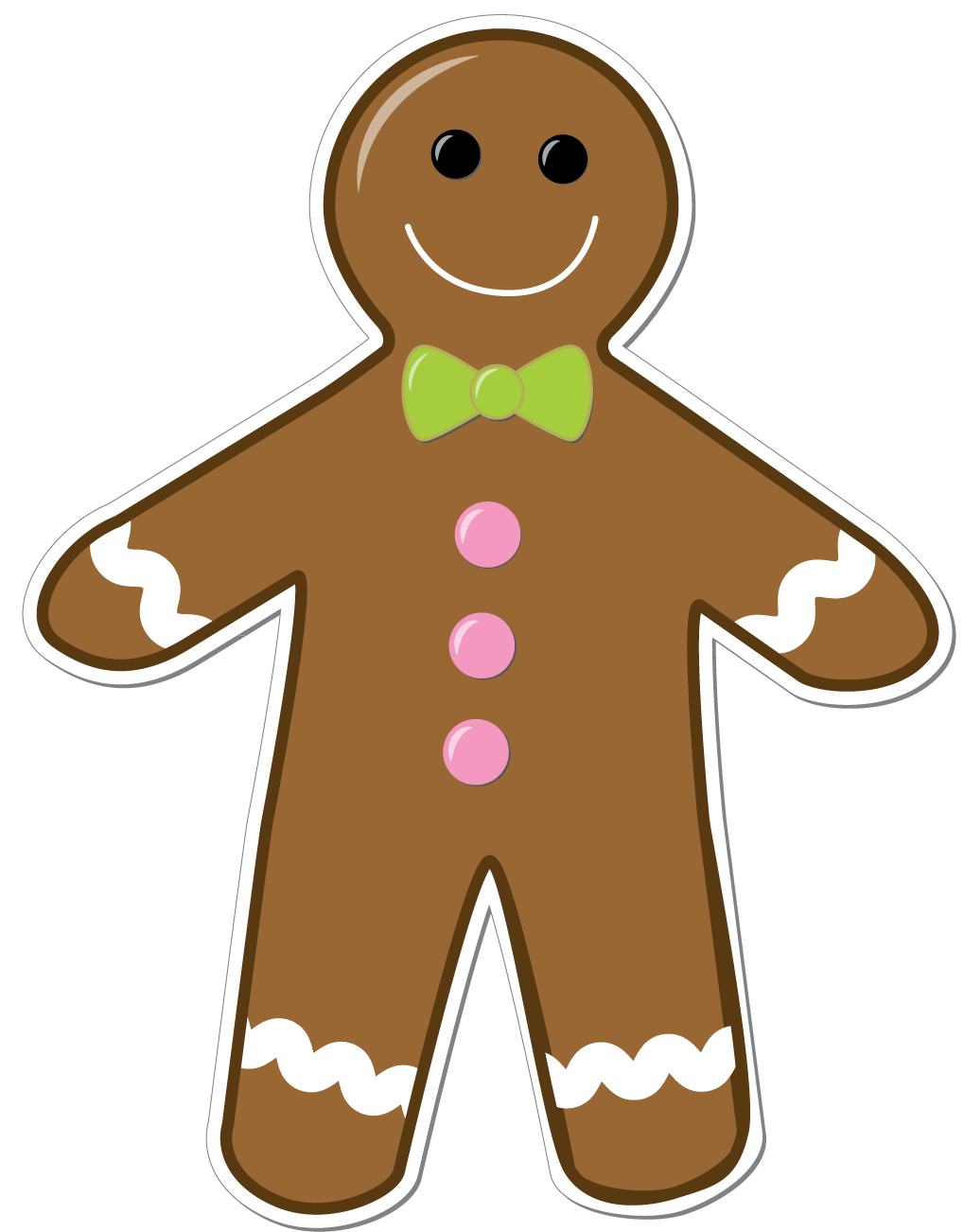 Gingerbread man story clipart black and white