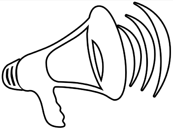 megaphone coloring pages - photo#17