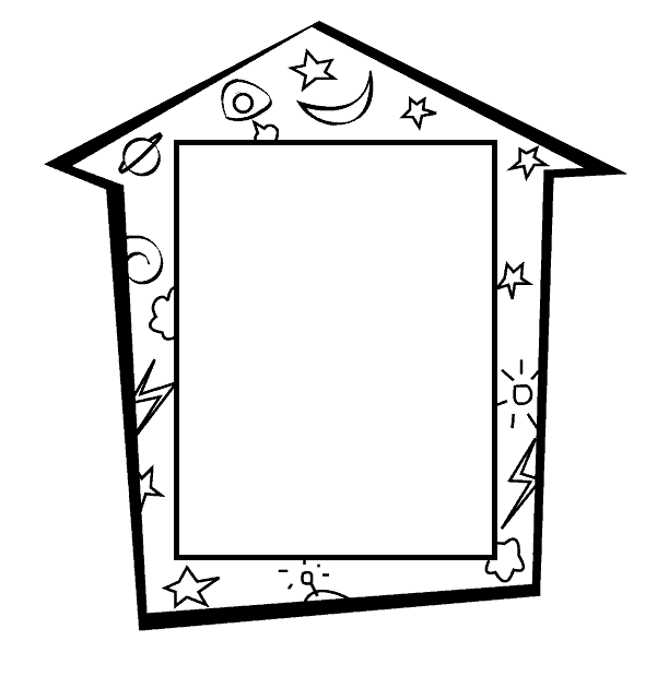 Frame Coloring Book ClipArt Best